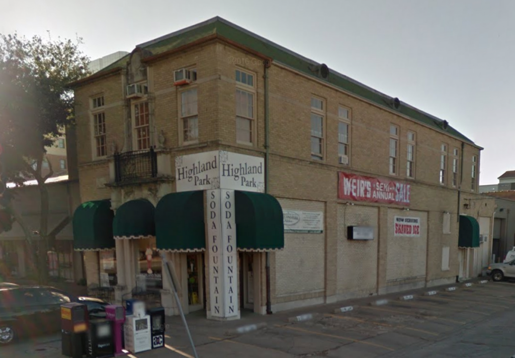 Old Highland Park Masonic Lodge Meeting Place