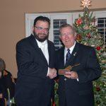Brother Harry Wood receiving the Golden Trowel Award