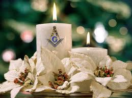 Masonic Lodge Christmas Candle