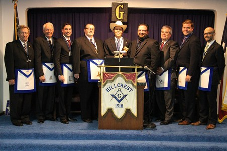 Worshipful Master Jake Golvach Senior Warden Mitch Breier Junior Warden Ken Knotts, P.M. Treasurer Harry Wood Secretary Gregg Yates, P.M. Chaplain Kyle Wahlquist, P.M. Senior Deacon Tim Wall Junior Deacon Max Gilley, P.M. Senior Steward Patrick Briody, P.M. Junior Steward Scott Brosi, P.M. Tiler Jadd Masso, P.M.