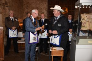 Grand Master Wendell Receiving the Gavel