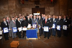 Grand Lodge Officers With Alamo Lodge Officers Inside the Alamo