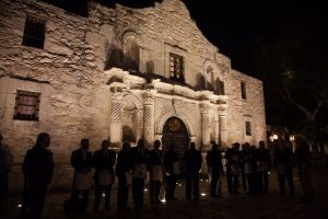 Masons outside the Alamo