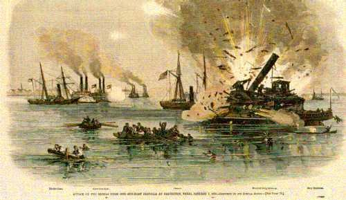 neptune civil war battle in galveston